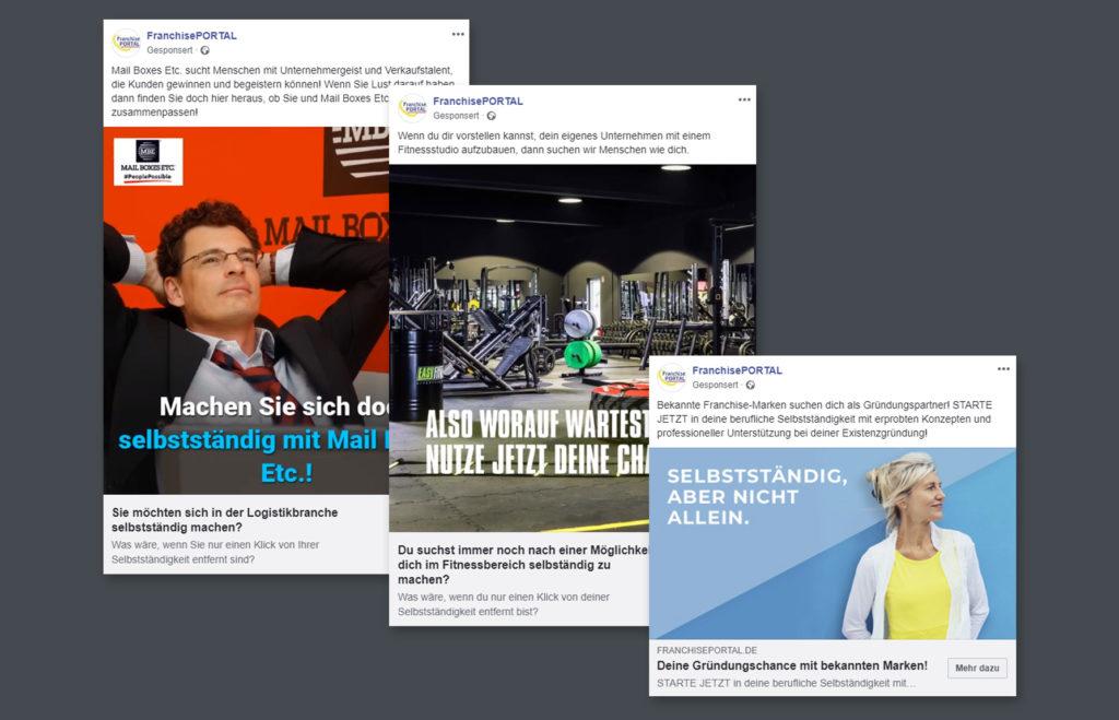 Facebook-Werbung Beispielanzeigen
