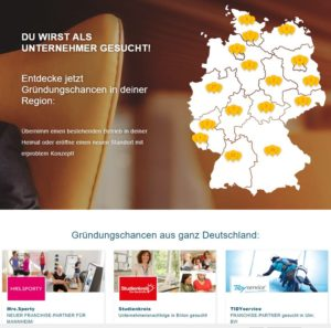 Startseite Unternehmer-gesucht - regionale Gründungsmöglichkeiten