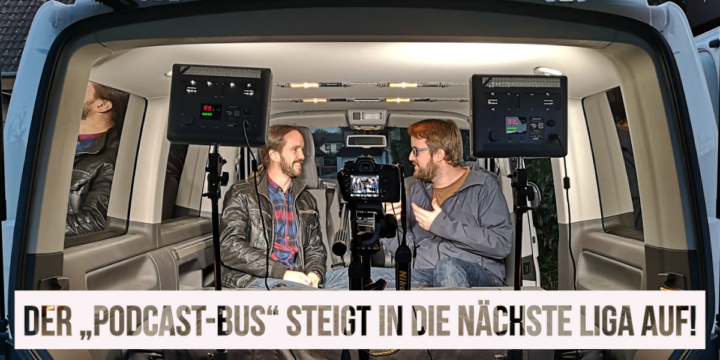 """Erfolgreicher Technik-Test mit unserem """"Podcast-Bus"""""""
