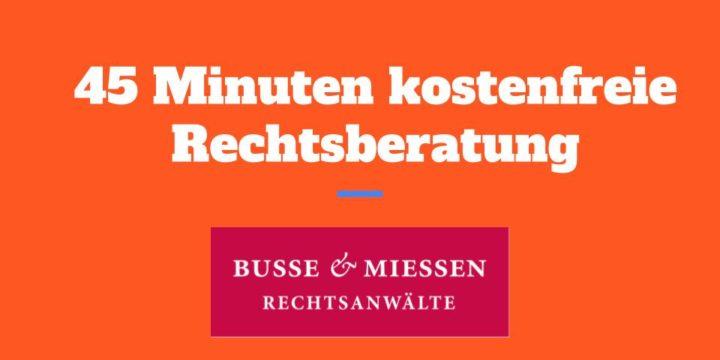 Hilfsangebot: Busse & Miessen bietet Franchisegebern kostenfrei 45 Minuten Erstberatung an